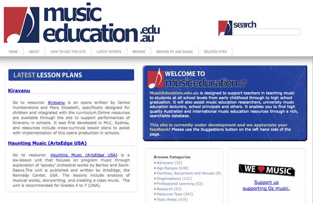 Lesson Plans Music Portal Melbourne Graduate School Of